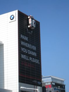 A Mini Cooper ad on the side of a building in the Haeundae district in Busan, South Korea