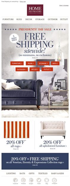 Home Decorators Collection Presidents Day Email 2015