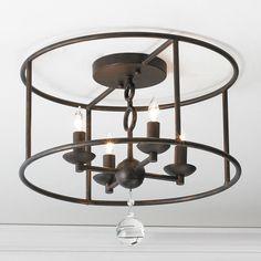 Modern Cage Ceiling Chandelier -  Shades of Light.com Product SKU: FM13095 BZ