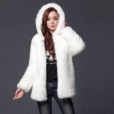 Winter White Fur Coat | White fur coat, White fur and Products