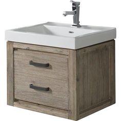 Buy the Fairmont Designs 1530-WV2118 Wall Mount Single Bowl Bathroom Vanity  Sand Pebble 21