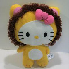 "HELLO KITTY Plush Cosplay Lion Stuffed Animal 12"" 2014 Sanrio  #Sanrio Hello Kitty Plush, Free Items, Sanrio, Lion, Cosplay, Animals, Ebay, Leo, Animales"
