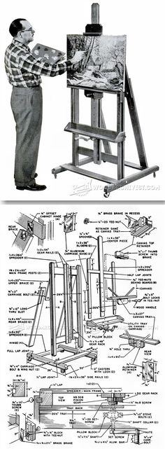 Artist Easel Plans - Woodworking Plans and Projects | WoodArchivist.com