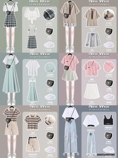 Swaggy Outfits, Kpop Outfits, Teen Fashion Outfits, Cute Fashion, Girl Outfits, Casual Outfits, Cute Outfits, Model Outfits, Ulzzang Fashion