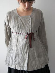 inspiration for man's shirt refashion Sewing Clothes, Diy Clothes, Clothes For Women, Style Clothes, Boho Fashion, Fashion Outfits, Womens Fashion, Inspiration Mode, Linen Dresses