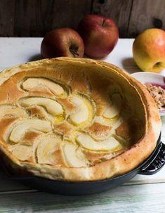 Dutch Baby Pancakes - Putzige, fluffige Pfannkuchen aus dem Ofen mit Äpfeln.