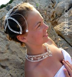 Bridal Necklace and Head piece Bridal Headdress, Headpiece, Bridal Necklace, Bridal Jewelry, Wire Jewelry, Jewellery, Bridal Sets, Earrings, Fashion
