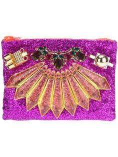 Mawi Single Glitter Clutch in Purple (multi) | Lyst