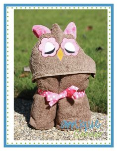 Owl Closed Eye Applique Design