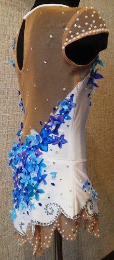 Pandora flowers leotard for rhythmic gymnastics