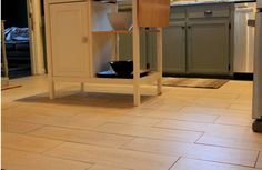 How to tile a kitchen floor. #thetileshop @The Tile Shop .