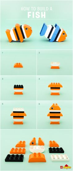 This cute clown fish is guaranteed to provide hours of entertainment for you and your little one! http://www.lego.com/da-dk/family/articles/how-to-build-an-exotic-fish-a5247a5b062e4b10ae3912c58cb5e037