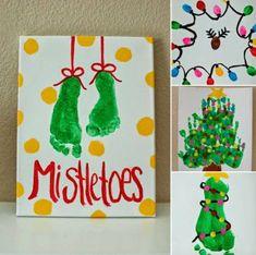 Mit Handabdruck zu Weihnachten malen - Den Kindern macht das viel Spaß!