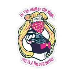 2pcs/lot Sailor Moon Stickers Waterproof Home Decor Laptop Sticker Decal Fridge Skateboard Doodle DIY Sticker Toy