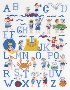 Seaside A-Z Sampler Cross Stitch