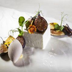 Figs and greek yogurt. The Art of Plating