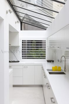If I ever do an extension - great idea for a kitchen - love the natural light.