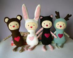 plush Bunny Girl - soft art doll, children toy