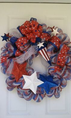 These are just a few of the wreaths I have made for friends and family.  Let me make one for you - Creative Designs 4 U.  Designer - Janet Austin