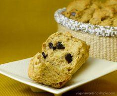 Vegan and gluten-free banana, walnut and chocolate chip muffins!