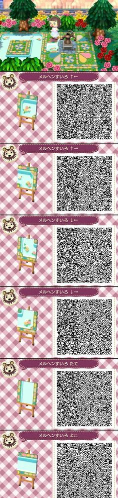 Animal Crossing New Leaf QR codes cute water path
