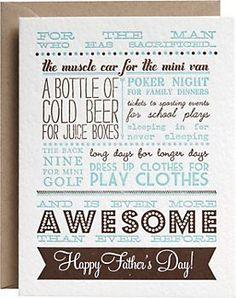 Letterpress Sacrifice Father's Day Card