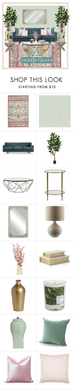 """""""Summery feel"""" by qqamrah on Polyvore featuring interior, interiors, interior design, home, home decor, interior decorating, York Wallcoverings, Jayson Home, Home Decorators Collection and Ballard Designs"""