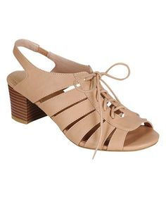 Look at this Nude Leroy Sandal on #zulily today!