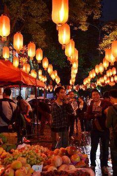 Photos of Ghost Street, Beijing.