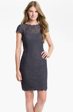 Adrianna Papell Illusion Yoke Lace Sheath Dress available at #Nordstrom