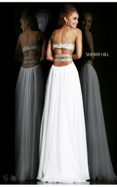 White Sherri Hill 11088 Long Prom Skirt