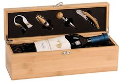 A custom engraved wine tool set is the perfect gift for any wine lover. This Christmas will have even more to celebrate with this charming gift of an engraved wine box with tools and customized with family names. Pick your own engravings or choose from our stock options!  Stock Option 1: A family tree logo and the warm message, like branches of a tree we may grow in different directions yet our roots remain as one with a tree emblem.  Stock Option 2: Tree photo along with family name…