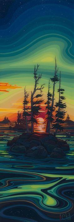 As Above, So Below ~ Chili Thom, Canadian Artist (chilis paysage) Landscape Pictures, Landscape Art, Landscape Paintings, Impressionist Landscape, Green Landscape, Tree Photography, Landscape Photography, Inspirational Artwork, You Draw