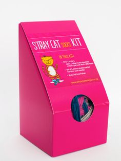 Stray Cat Sock Kit  CREATE IT YOURSELF by StrayCatSocks on Etsy, $34.00 Cat and labels designed by Taz at Kaz Graphic Dezign, New Zealand.