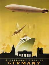 zeppelin art 1930s - Google Search