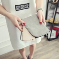 Universal Neck Hanging Rope Clutch Card Slot Zipper Phone Wallet for Phone Under 5.5-inch