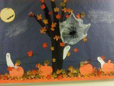 Spooktacular Halloweenscape - Halloween Bulletin Board Idea