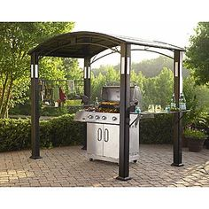 abri pour barbecue aluminium et acier galvanis messina 2 x 3 m barbecue refuges et acier. Black Bedroom Furniture Sets. Home Design Ideas