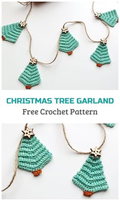 Crochet Christmas Tree Garland in 1 hour - Crochet Kingdom