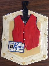 VINTAGE barbie KEN'S Red Vest NRFP 1962 - 1963