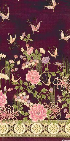 Narumi - Grand Garden Wall - Quilt Fabrics from www.eQuilter.com