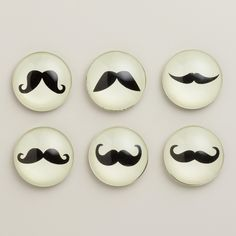 Mustache Magnets, Set of 6 from Cost Plus World Market on shop.CatalogSpree.com, your personal digital mall.