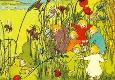 """Postkarten mit Motiven aus dem Buch """"Etwas von den Wurzelkindern """" - Sibylle von Olfers"""