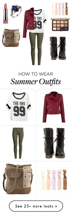"""""""summer outfit 61"""" by adelineojeda on Polyvore featuring H&M and LORAC"""