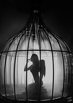 """""""Caged Bird Janelle"""" by David Hickey"""