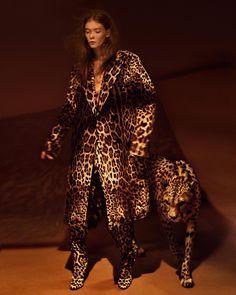 Julia Hafstrom Walks the Wild Side for Harper's Bazaar Turkey. Photographer Kristian Schuller. Stylist Sarah Gore Reeves.