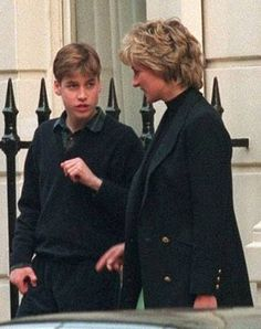 Diana, Princess of Wales, with her son, Prince William, 1996.