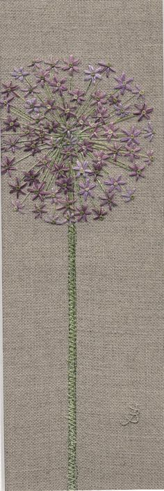 Jo Butcher, Embroidery Artist - Allium Head                                                                                                                                                      More