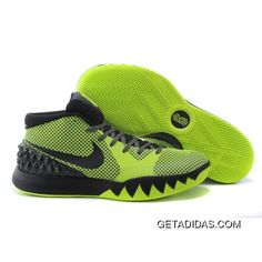 16fe617f7595 Nike Kyrie 1 Fluorescent Green And Black Basketball Shoes Authentic