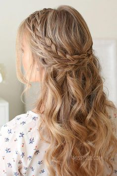 Half Up Double Wrapped Braids - Missy Sue Prom Hairstyles For Short Hair, Ball Hairstyles, Box Braids Hairstyles, Elegant Hairstyles, Wedding Hairstyles, Everyday Hairstyles, Hairstyle Ideas, Hair Ideas, Bridesmaid Hair Half Up Braid